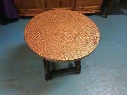 vintage retro round copper hammered top
