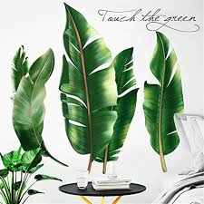 Amazon Com Derun Trading N35 Leaf Wall Decals Palm Tree Wall Decals Green Leaves Wall Paper Evergreen Wall Sticker Removable Decal Peel And Stick Giant Wall Decals Painterly Ivy Peel And Stick Wall