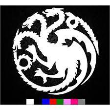 Khaleesi Game Of Thrones House Targaryen Sigil Vinyl Sticker Decal Hbo Mymonkeysticker Com