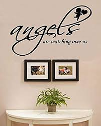 Amazon Com Angels Are Watching Over Us Vinyl Wall Decals Quotes Sayings Words Art Decor Lettering Vinyl Wall Art Inspirational Uplifting Baby