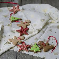 handmade garland with ginger