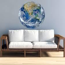 Vwaq 3d Globe Wall Decal Earth Vinyl Sticker Planet Earth Wall Art Pas26 20 Diameter Walmart Com Walmart Com