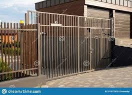 Wooden Fence On A Metal Frame Stock Image Image Of Clothing Boutique 181317903