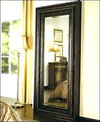 oval floor mirror with jewelry storage