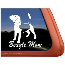 Beagle Mom Vinyl Adhesive Dog Window Decal Walmart Com Walmart Com