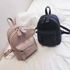 leather backpack mini soft touch