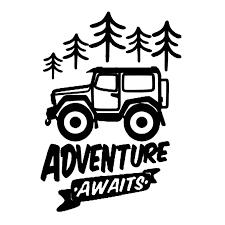 Adventure Awaits Words Travel Pine Auto Car Sticker Decal Vinyl Bumper Decor Stickers Car Window Murals Forest Adventure L681 Car Stickers Aliexpress