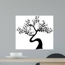 Black Tree Silhouette White Wall Decal Wallmonkeys Com
