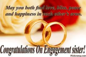 engagement wishes for sister messages quotes wishesmsg