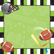 Futbol Partido Tarjeta De Invitacion Con Marco Decorativo Ilustraciones Vectoriales Clip Art Vectorizado Libre De Derechos Image 11959410
