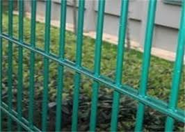 Twin Wire 8 6 Double Wire Fence Wrought Iron Style Green Pvc Coated Wire Mesh Fencing