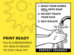 Printable Health Flyer for Flu and Coronavirus Sketch freebie ...