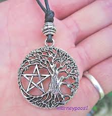 pendant necklace pentacle pagan wicca