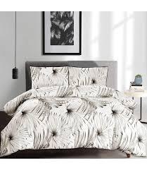 palm tree cotton 3pc duvet cover set