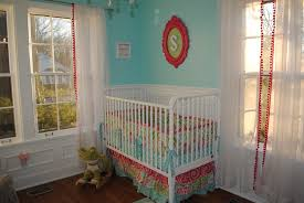 aqua pink and green whimsical nursery