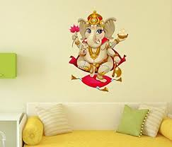 Vinyl Wall Decal Krishna Hinduism God India Hindu Stickers Mural Ig3789