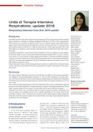 PDF) Unità di Terapia Intensiva Respiratoria: update 2018 ...