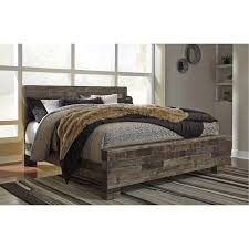 modern farmhouse rustic king size bed