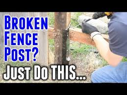 How To Fix A Broken Fence Post In Under 30 Minutes Youtube