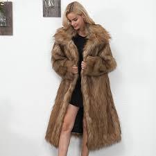 winter womens plus size faux fur coat