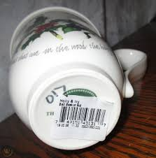 Portmeirion Holly and Ivy Bell Beaker Mugs Set of 4 Christmas China    #1790867850