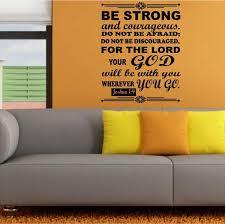 Christian Home Decor Wall Decal Bible Scripture Joshua 1 9 Jeyfel