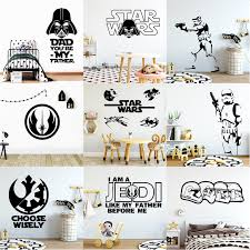 Hot Sale Star Wars Wall Sticker Decals For Kids Room Decoration Vinyl Stickers Mural Boys Bedroom Pegatinas Paredes Decoraci Wall Stickers Aliexpress