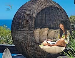 garden sun lounger outdoor wicker