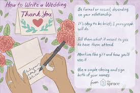 wedding thank you note wording exles