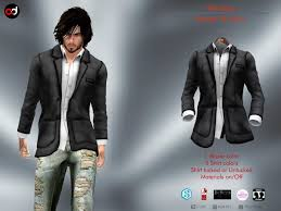 Second Life Marketplace - A&D Clothing - Blazer -Wesley- Stone