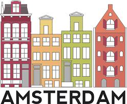 Amsterdam Buildings Wall Sticker Tenstickers