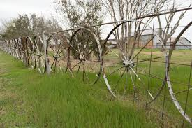 A Fence Made Of Wagon Wheels In The Unincorporated Community Of High Hill Near Schulenburg In Fayette County Texas Library Of Congress