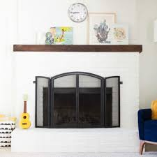 how to paint a brick fireplace diy
