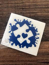 Autism Decal Autism Puzzle Piece Autism Awareness Puzzle Etsy