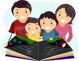 Illustration Of A Family Reading A Book Together Stock Photo, Picture And  Royalty Free Image. Image 15957550.