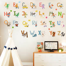 Dicor Cartoon Colorful 26 Letters Alphabet Wall Decal Sticker Home Decor Diy Removable Art Vinyl Mural For Kids Qt740kj 4mb Leather Bag