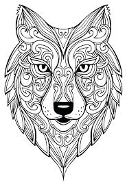 Wolf Coloring Pages For Adults Kleurplaten Adult Coloring Pages