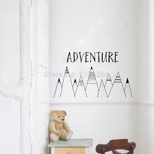 Adventure Vinyl Wall Sticker Nordic Mountains Kids Room Nursery Decor Two Sizes Buy At The Price Of 4 39 In Aliexpress Com Imall Com