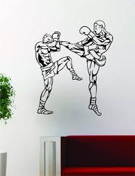 Kickboxers Fighters Mma Design Decal Sticker Wall Vinyl Decor Art Boop Decals