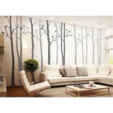 Popeven Gray Birch Tree Wall Decal Vinyl Removable Wall Decor Dty Wall Sticker Art Mural Stickers For Bedroom Living Room Tv Sofa Background Set Of 4 Walmart Com Walmart Com