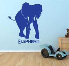 Elephant Decal Zoo Animal Vinyl Decor Wall Decal Customvinyldecor Com