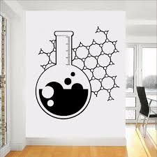 Chemistry Beaker Science Wall Decal Vinyl Teacher School Classroom Funny Education Atom Wall Sticker Art Home Room Decor C377 Wall Stickers Aliexpress
