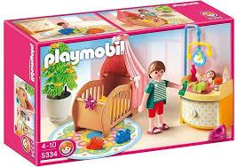 Amazon Com Playmobil Baby Room With Mobile Toys Games Kids Room Sets Baby Room Playmobil