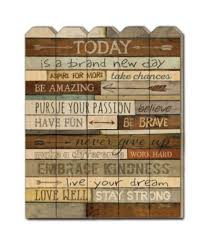 Trendy Decor 4u Trendy Decor 4u Today Is A Brand New Day By Marla Rae Printed Wall Art On A Wood Picket Fence Collection Reviews All Wall Decor Home