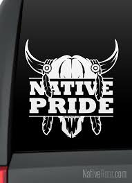 Native Pride Bull Skull Native American Decal Customize With Tribal Name Taino Rising