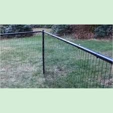 Strong Dog Fence Kit With Top Rail Black Welded Wire Fencing 4 X 200 Feet Dg Ww Tr 4x200 Strong Dog Fence Kit