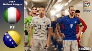 PES 2020 • Italia Vs Bosnia • UEFA Nations League - YouTube