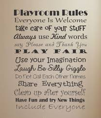 For The Home Playroom Rules Vinyl Wall Decal Home Decor Playroom Rules Playroom Kids Playroom