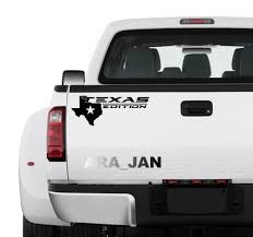 Texas Edition Truck Decal Sticker Texas Map Sport Truck Pickup Etsy