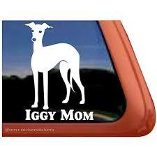 Amazon Com Iggy Mom Italian Greyhound Vinyl Window Dog Decal Sticker Automotive